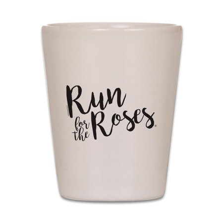 CafePress - The Kentucky Derby Run For The Roses - White Shot Glass, Unique and Funny Shot - Kentucky Derby Glasses