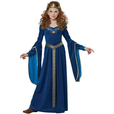 Sapphire Medieval Princess Child Costume](Girls Queen Costume)