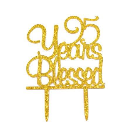 TM 95 Years Blessed Acrylic Cake Topper 95th Birthday Anniversary