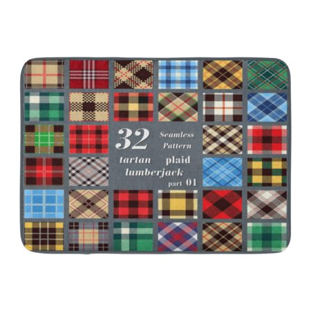 GODPOK Wool Plaid Tartan Trendy for Tiles Suits and House Interior As Well for Hand Crafts Flannel Lumberjack Rug Doormat Bath Mat 23.6x15.7 -