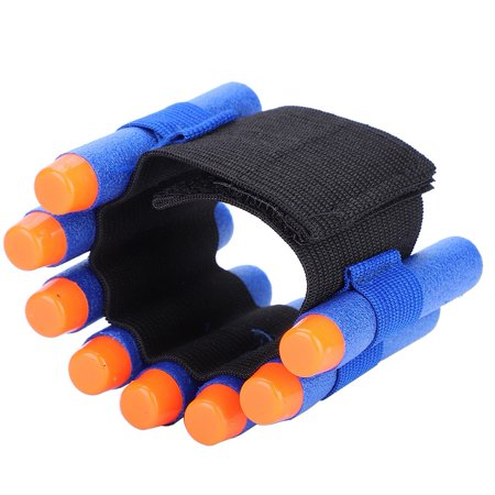 WALFRONT Soft Bullet Dart Ammo Storage Wrist Belt Band Strap for Toy Gun Game, Adjustable Bullet Storage Belt, EVA Bullets Wrist