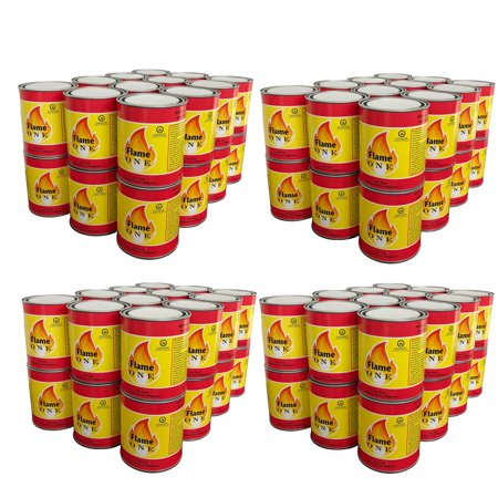 Flame One Indoor or Outdoor Premium Gel Fireplace Fuel in 13 Oz Cans (96