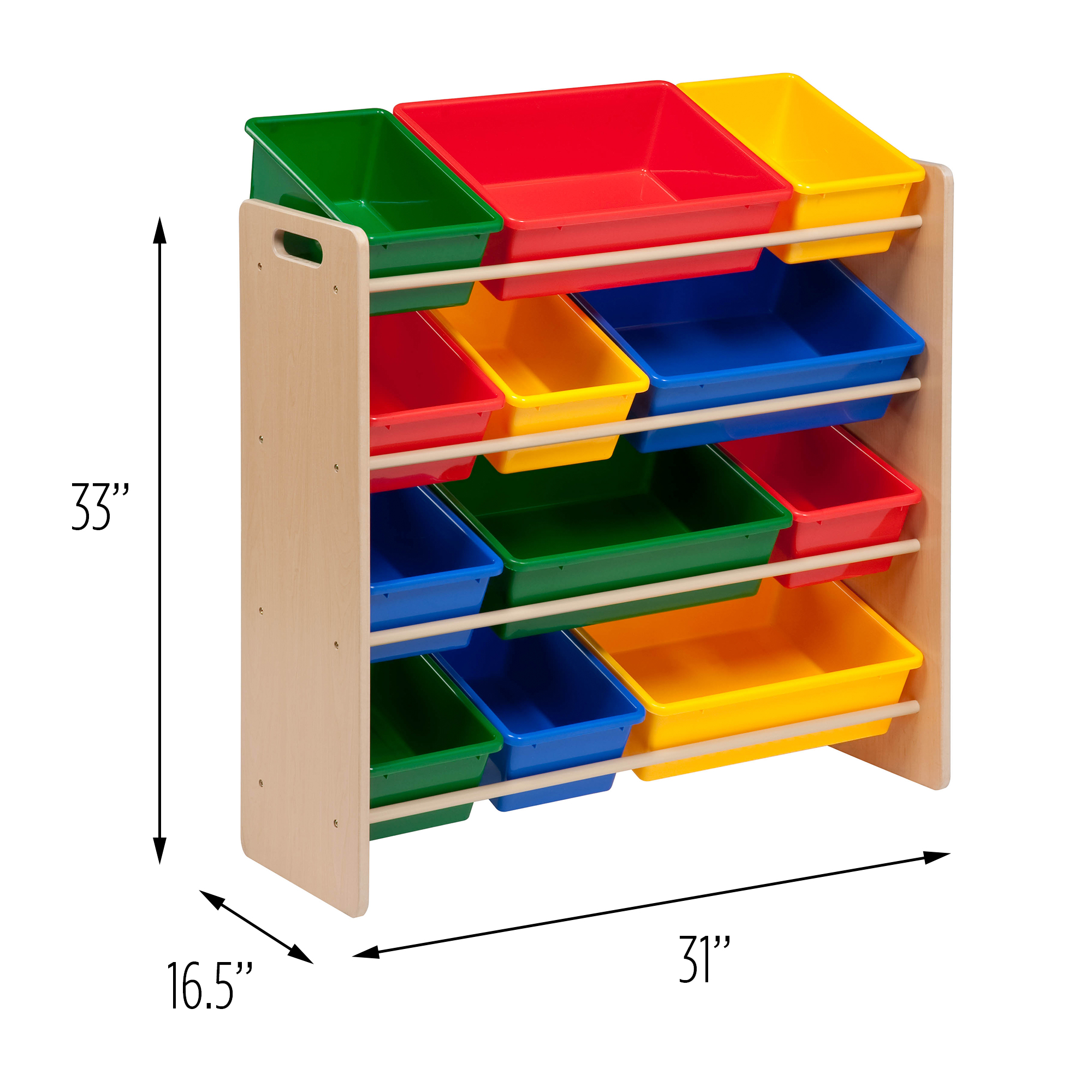 Honey Can Do Kidu0027s Toy Organizer With 12 Storage Bins, Multicolor