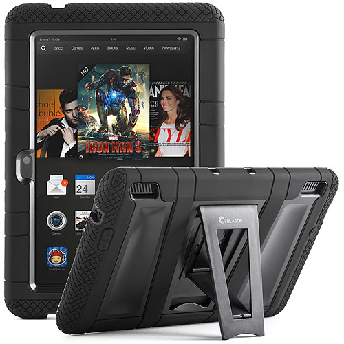 "i-Blason Kindle Fire HDX 7"" ArmorBox Convertible Kickstand Case with Built-in Screen Protector, Assorted Colors"