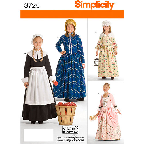 Simplicity Pattern Child and Girl's Costumes, (3, 4, 5, 6)