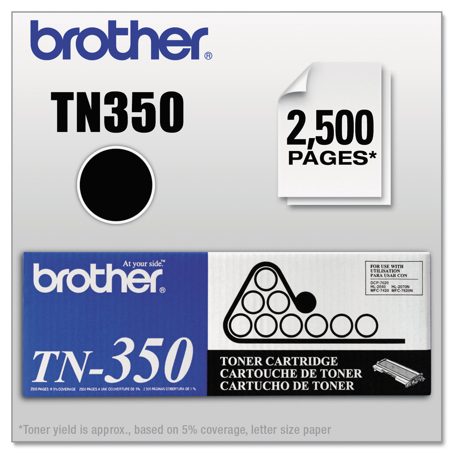 Brother TN350 Toner, Black