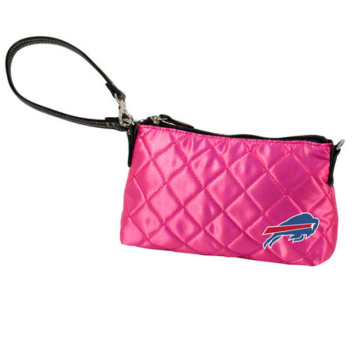 NFL - Buffalo Bills Pink Quilted Wristlet