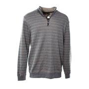 Tasso Elba NEW Gray Beige Striped Mens Size Medium M 1/2 Zip Sweater $75