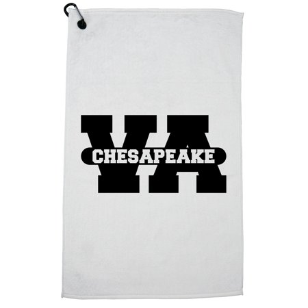 Chesapeake, Virginia VA Classic City State Sign Golf Towel with Carabiner Clip](Party City Chesapeake Va)