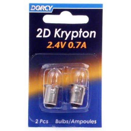 Krypton Flashlight Light Bulbs (2D Kpr102 Krypton Bulb 2.4V 0.7A Use In 2D Flashlights 4PK )