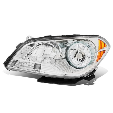 For 2008 to 2012 Chevy Malibu 1Pc Left / Driver Side Factory Style Chrome Housing Headlight Lamp 09 10 11 09 Factory Replacement