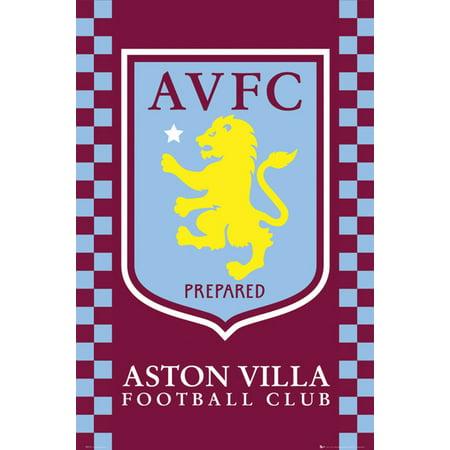 Aston Villa Club Crest Laminated Poster (24 x 36) ()
