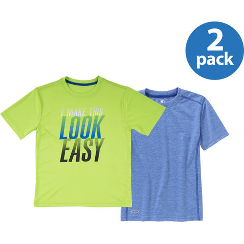 Starter Boys' Short Sleeve Active Shirt Your Choice 2-Pack Value Bundle