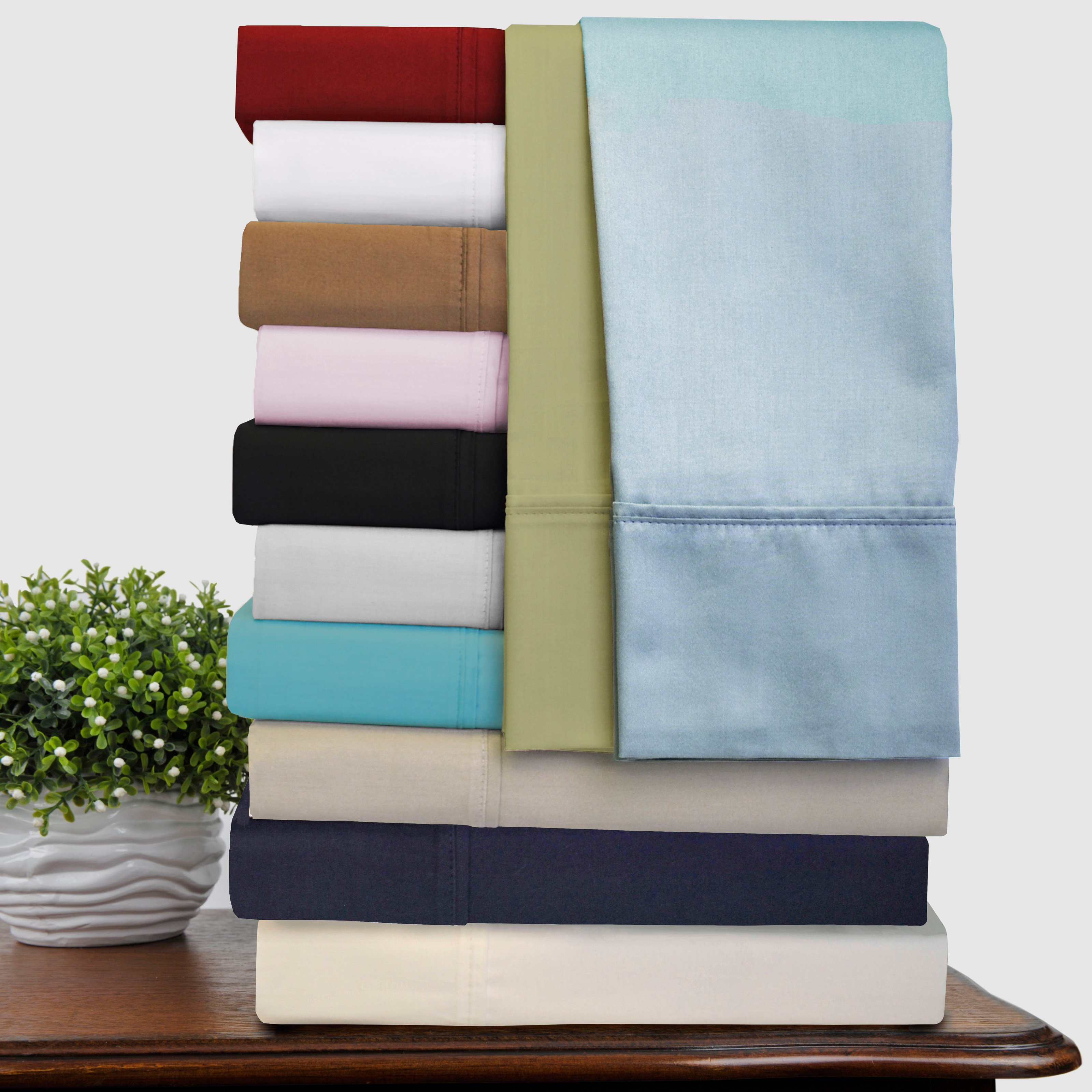 Superior 300 Thread Count 100% Premium Quality Cotton  Solid Sheet Set