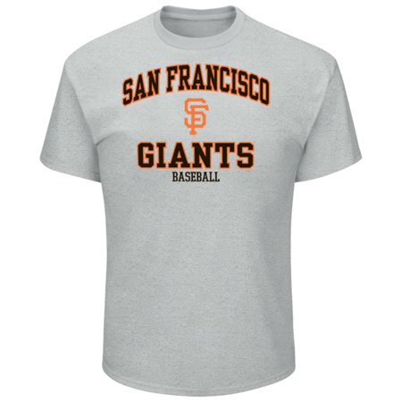 Men's Majestic Heathered Gray San Francisco Giants High Praise Team T-Shirt