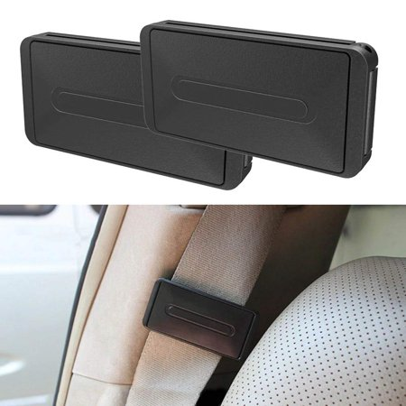 - RED SHIELD Car Safety Seatbelt Clips. Vehicle Seat Belt Buckle Stopper Clamp Adjuster for Relaxing Neck & Shoulder. Reduce Irritation with Strap Positioner While Driving. Easy to Use. [2PK / Black]