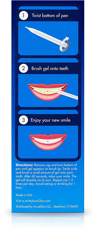 Auraglow Teeth Whitening Pen 35 Carbamide Peroxide 20 Whitening Treatments No Sensitivity 2ml Walmart Com Walmart Com