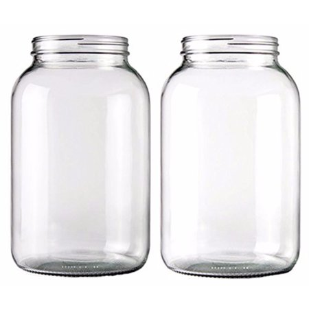 One Gallon Wide Mouth Glass Jar-Set of 2