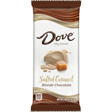 Dove Salted Caramel Blonde Chocolate Bar, 3.30 Oz.