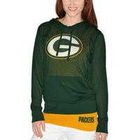 Green Bay Packers Women's Holey Hoodie T-Shirt & Tank Top Set - Green