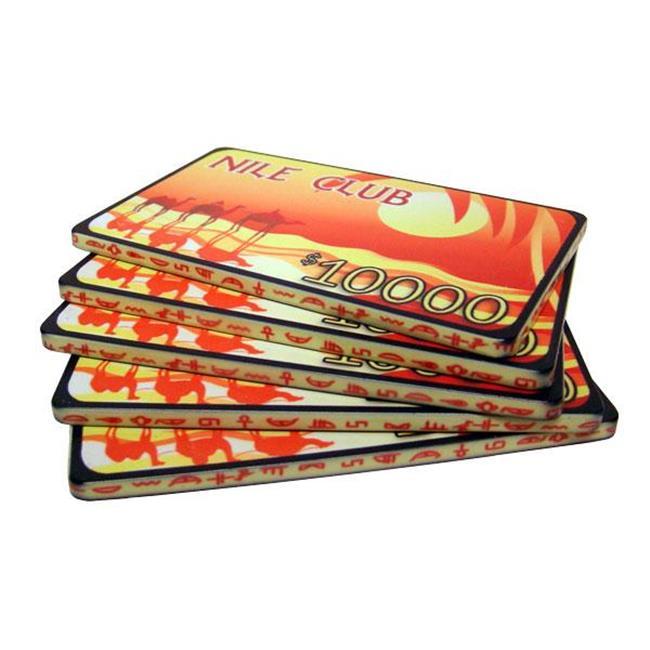 Bry Belly CPNI-$10000 10 10 $10,000 Nile Club 40 Gram Ceramic Poker Plaques