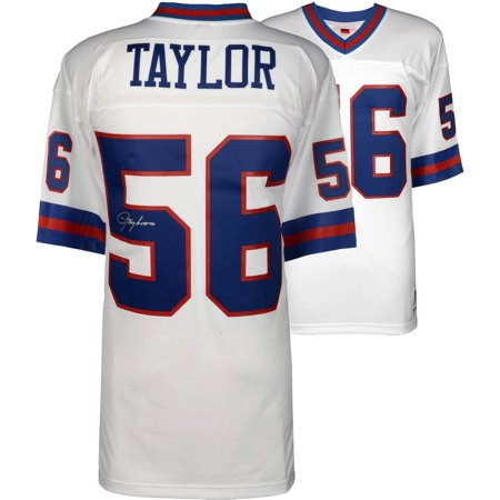 hot sale online 3fb72 3d210 Lawrence Taylor New York Giants Autographed White Mitchell & Ness Replica  Jersey - Fanatics Authentic Certified