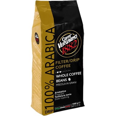 Caffe Vergnano Drip Coffee 100% Arabica Whole Beans (Best Drip Coffee Beans)