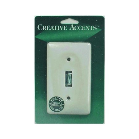 Deerfield 981CW Porcelain Toggle Wall Plate, This is White Porcelain Toggle Wall Plate By Jackson