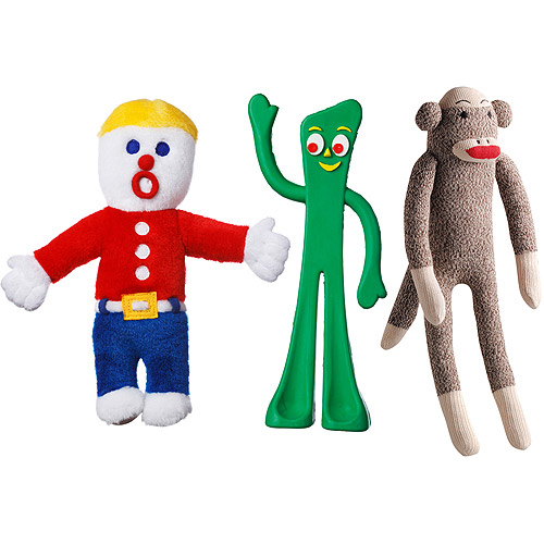 Multipet's Mr. Bill, Gumby And Sock Pal