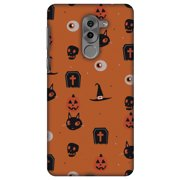 Huawei GR5 2017 Case, Premium Handcrafted Printed Designer Hard ShockProof Case Back Cover for Huawei GR5 2017 - Spooky Collage