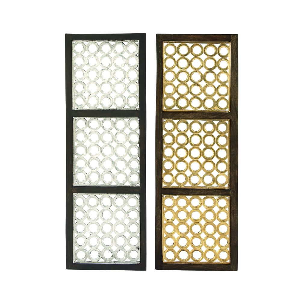 Elite Wood Metal Foil Panel 2 Assorted