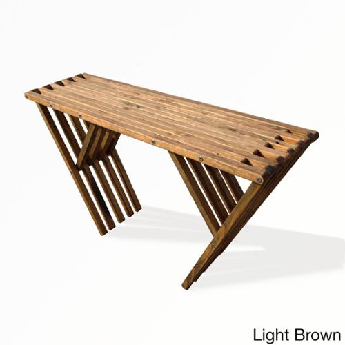 Eco Friendly Console Table X60 Made in USA Light Brown