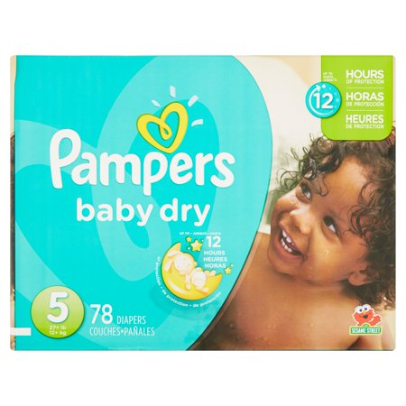 Pampers Baby Dry Diapers, Size 5, 78 Diapers–Walmart-Cash Back