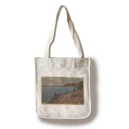 - Upper Klamath Lake, Oregon - Lookout Point (100% Cotton Tote Bag - Reusable)