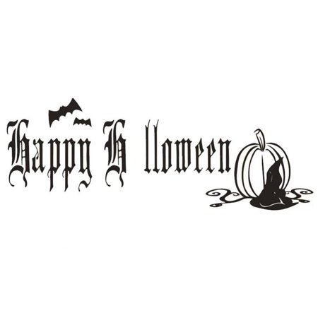 Halloween Party Ad (Ejoyous Self-Adhesive Wall Sticker Removable Decal Home Ornaments for Halloween Festival Party Decor ,Wall Sticker, Wall)