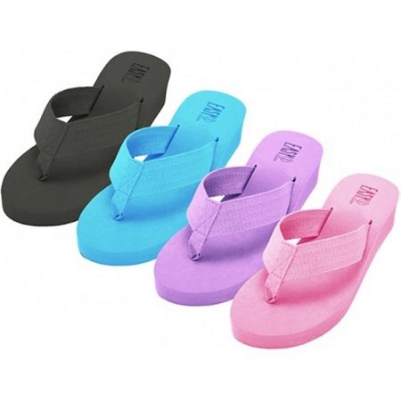 Women's Fabric Upper Wedge Thongs