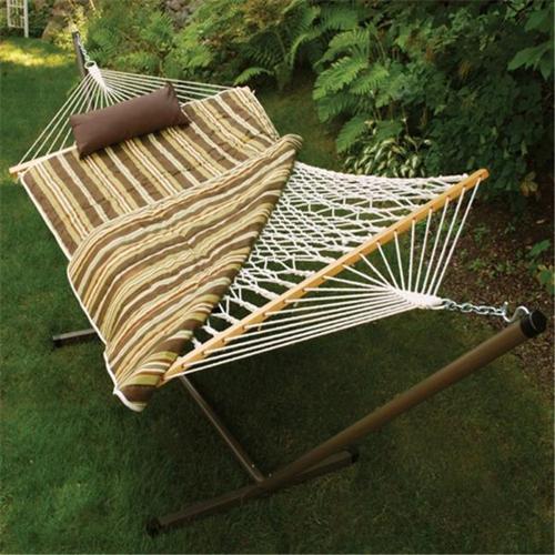Algoma Net Company 8911E Cotton Rope Hammock  Stand  Pad and Pillow Combination