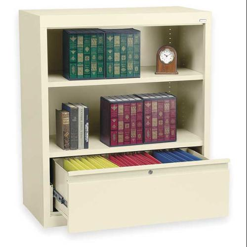 ATLANTIC METAL BD10361842-07 Bookcase Drawer Cabinet, 2 Shelf, Putty