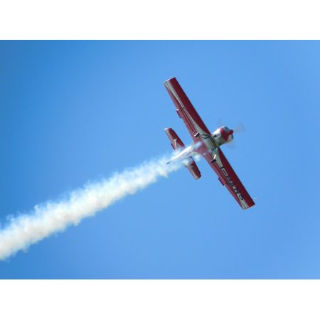Canvas Print Airplane Sky Plane Wake Acrobatic Stretched Canvas 10 x 14