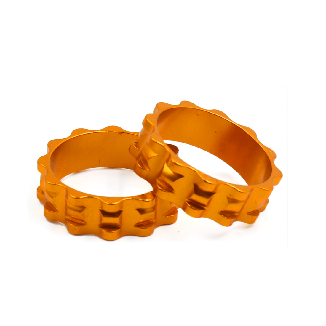 2 Pcs Stem Headset Washer Spacer Gold Tone for Road Bike MTB Bicycle