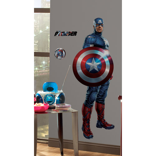 RoomMates Avengers Captain America Peel & Stick Giant Wall Decal