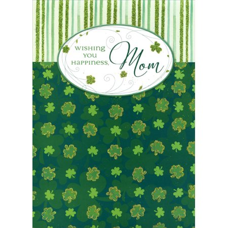 Glitter Shamrocks (Designer Greetings Glitter Shamrocks & Stripes: Mom St. Patrick's Day)