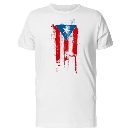 Puerto Rico Flag Tee. Men's -Image by (Best Surf Spots In Puerto Rico)