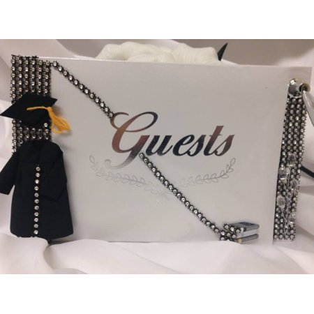 Graduation Guest Book Silver and Black High School - Graduation Guest Book Ideas