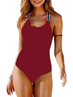 402750f5c403f Product Image Womens Swimming Costume Padded Monokini Swimsuit Swimwear  Push Up Bikini Bathing