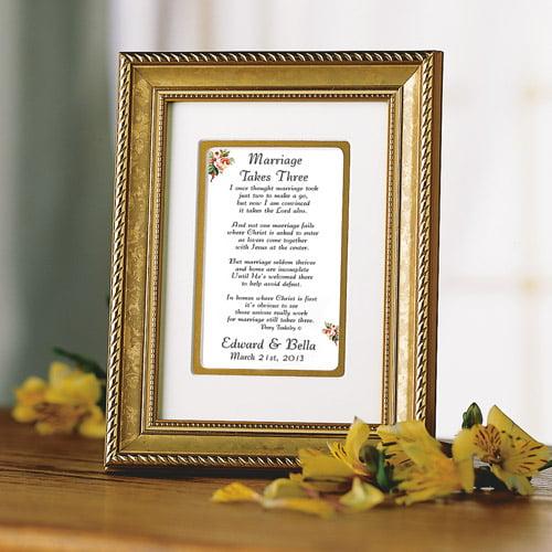 "Personalized ""Marriage Takes Three"" Print"
