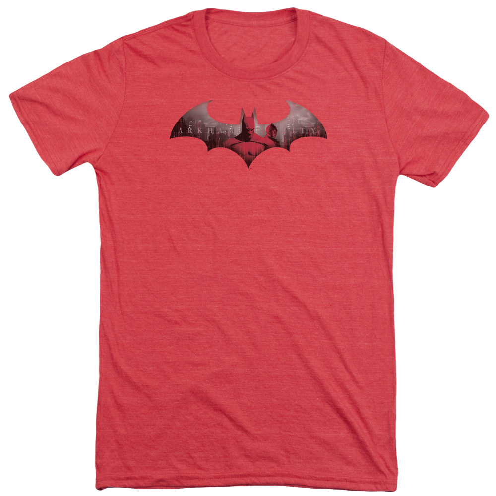 Arkham City In The City Mens Tri-Blend Short Sleeve Shirt