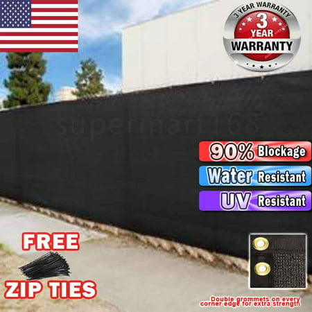 Black 4 39 x50 39 fence windscreen privacy screen shade cover for Garden screening fabric