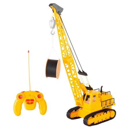 Remote Control Crane Truck- 1:30 Scale,360 Degree Rotating RC Construction Toy by Hey! (8 Ton Truck With Crane For Sale)
