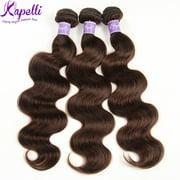 Kapelli Brazilian Hair Body Wave Bundles 3pcs Virgin Hair Human Hair Weave #2